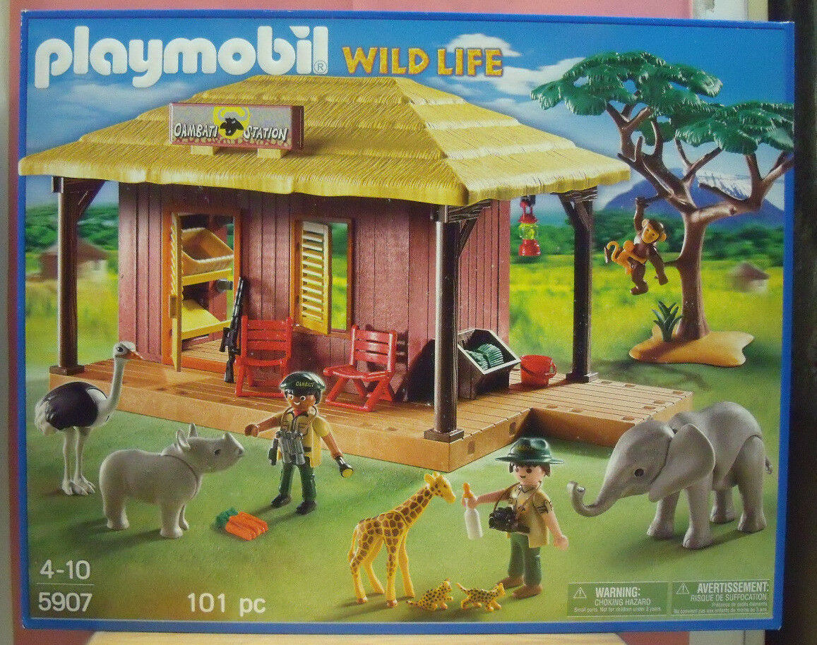 PLAYMOBIL 5907 EDIFICIO SAFARI CON ANIMALI ARrotATO WILD LIFE OAMBATI STATION