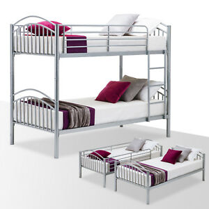 Bunk Bed Frame Convertible Twin Over Twin Metal Frames 2 Twin Size