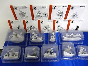 COMPLETE-COLLECTION-TINTIN-9-FIGURINES-034-LA-COLLECTION-OFFICIELLE-034-HORS-SERIE