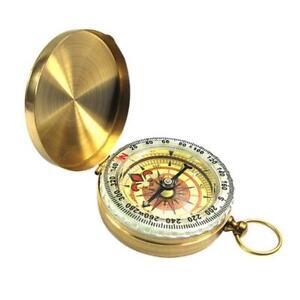 / Menge Außen Camping Wandern Vergoldet Kupfer Nachtleuchtende Kompass