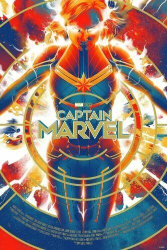 New Captain Marvel Fabric Poster Brie Larson Marvel Comics X-33-14x21 24x36