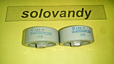 2x KVI-3 1000Pf 12Kv 20/% High voltage ceramic capacitor
