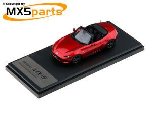 MX5 Mk4 cabriolet échelle 1:43 Soul Red Diecast Modèle Genuine Mazda Merchandise