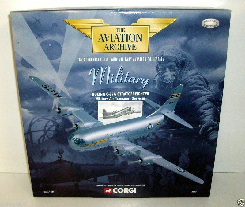 CORGI 1 144 48104 BOEING BOEING BOEING C-97A STRATOFREIGHTER MILITARY AIR TRANSORT SERVICES f46808