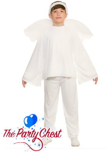 KIDS CHRISTMAS ANGEL COSTUME Nativity Angel Gabriel Childrens Fancy Dress Outfit