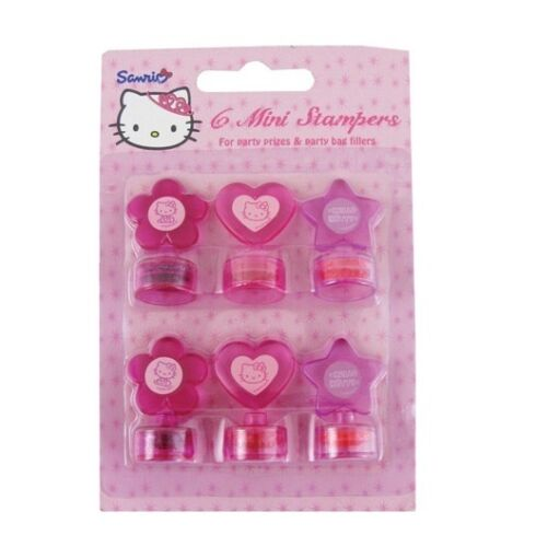 Party Bag Filler//Prizes//Kids//Birthday//Gift Gemma HELLO KITTY 6 Mini Stampers
