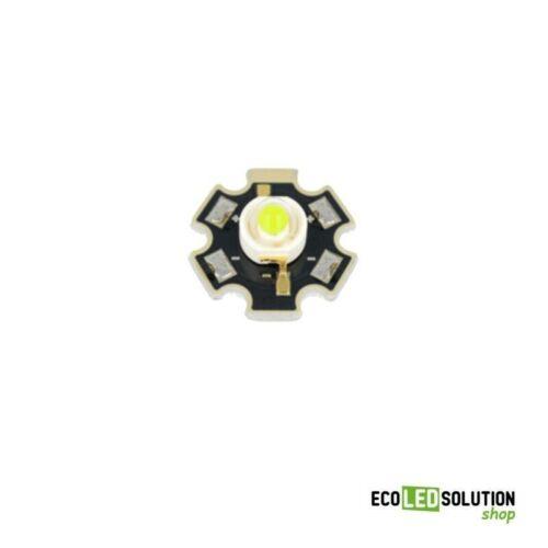 Power Led 3W Bianco Freddo 4500-5650°K 160-222 lm su dissipatore STAR