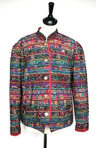 Vintage-Quilted-Jacket-Lima-1980s-patterned-quilted-jacket-Polyester-UK-12-14