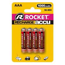 4St. Rocket AAA Akku 1000 mAh Ni-MH Micro R03 Rechargeable Batterie Battery Accu