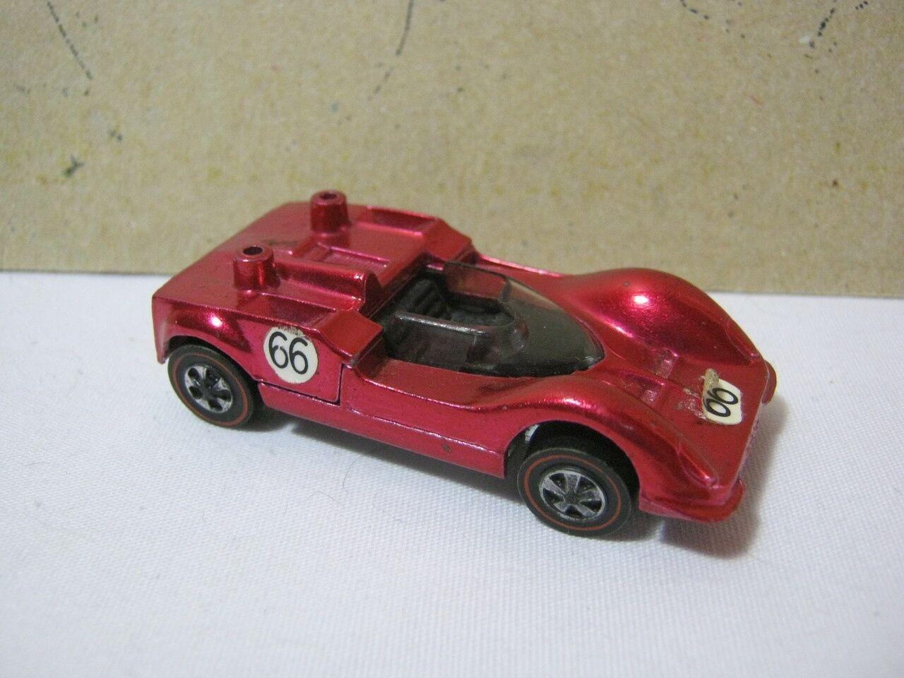 Vintage Hot Wheels Chaparral 2G Redline pink color  T
