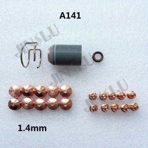 Electrode 1.4mm Tip Shield A141 Trafimet Plasma Torch Consumables Kit 23pcs