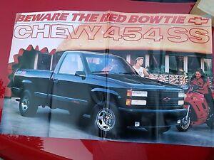 Brochures & Catalogs 90 Chevrolet Nos Original Brochure Silverado Van Blazer S10 Truck Ss Poster Rare