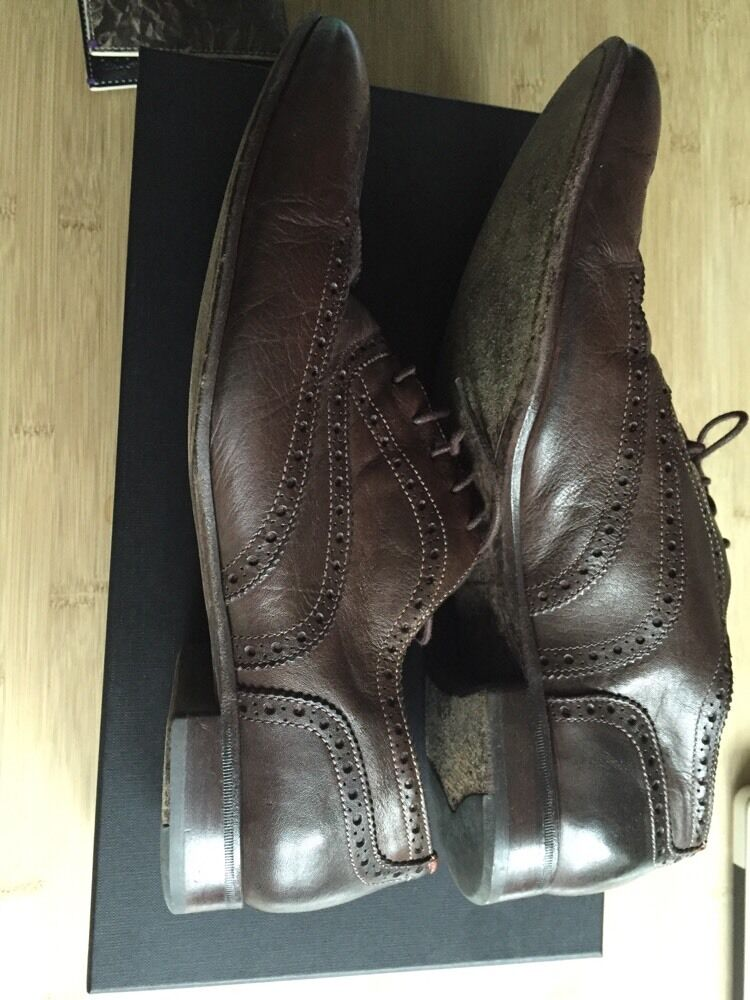 Paul Smith Men's Men's Dip Dye Brown Leather Miller Brogues Brogues Brogues   UK 8.5 xx 10ba75