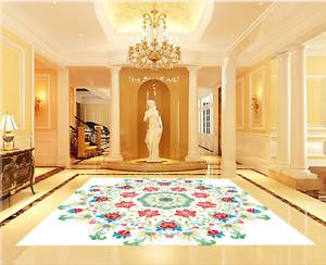 3D rojo Sun Flower Piso impresión de parojo de papel pintado mural 832 5D AJ Wallpaper Reino Unido Limón