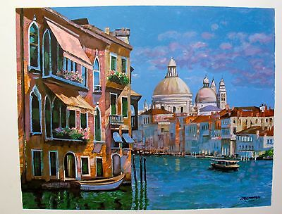 """Howard Behrens """"HOTEL VENEZIA"""" Hand Signed Limited Edition Serigraph"""