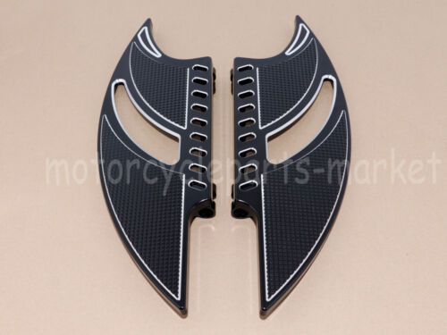 Edge Cut Front Driver Floorboard Foot board Harley Touring Dyna Softail 84-2015