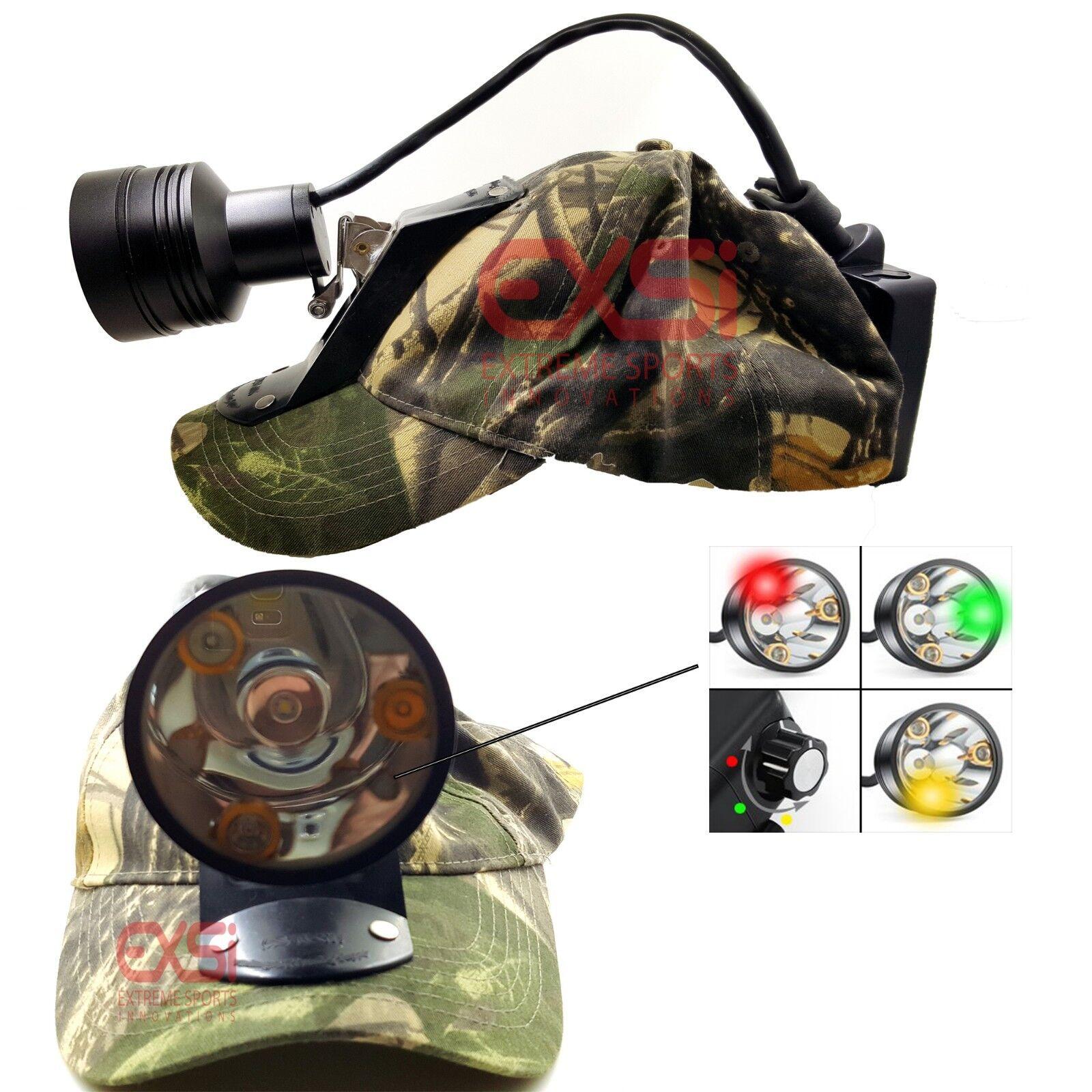 Pro hunter 3C CREE LED Coon Hunting hog Hunting light bump cup light & Free Gift