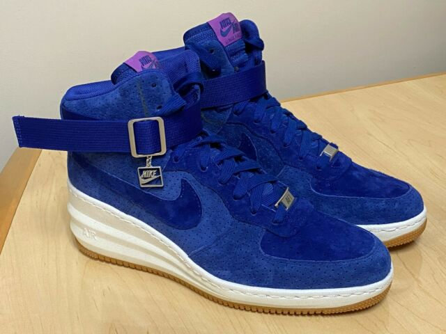 Nike Lunar Force 1 Sky Hi Womens Size 10 Shoes Deep Royal AF1 654848 400