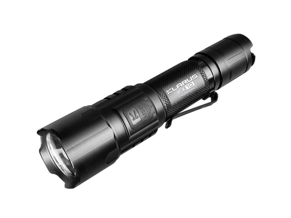 Klarus FX10 1000 Lumen Adjustable Beam LED Flashlight Rechargeable