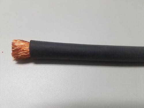 FLEXAPRENE 25/' 3//0 WELDING BATTERY CABLE BLACK 600V USA EPDM HEAVY DUTY COPPER