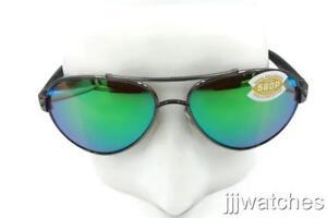 0bf68ef6d4 New Costa Del Mar Loreto Gunmetal Green Polarized Aviator Sunglasses ...