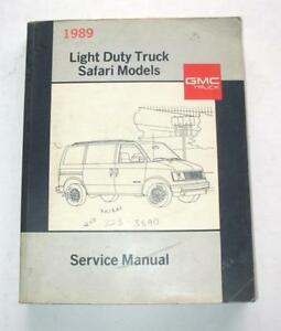 1989 GMC SAFARI MINI VAN ORIGINAL DEALER SERVICE ...