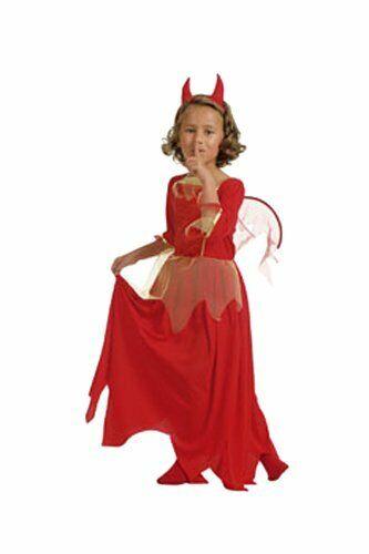 CesarA Little Devil Bride Costume2Pieces set Dress with Wings Devil Horn