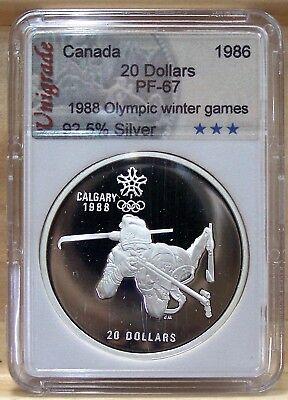 CANADA $20 CALGARY WINTER OLYMPIC 1988 Proof  No 1