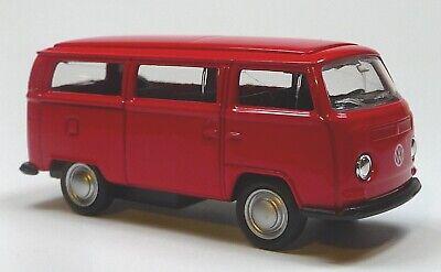 Bulli T2 gelb Modellauto 1:60 Metall Spritzguss von WELLY Neuware! VW Bus 1972