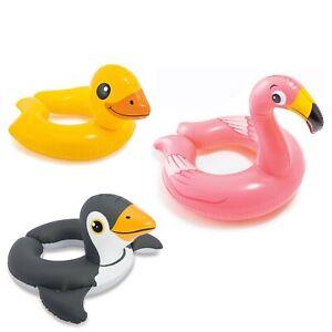 Kinderbadespaß INTEX Ente Schwimmring Schwimmhilfe Kinder Schwimmreifen Schwimmtier