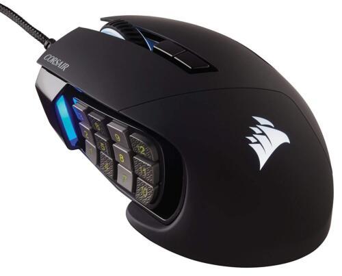 Corsair Gaming SCIMITAR Pro RGB Gaming Mouse Backlit RGB LED 16000 DPI Black