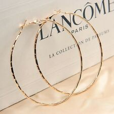 LARGE GOLD PLATED DESIGN HOOP EARRINGS 60MM HYPOALLERGENIC VALENTINES