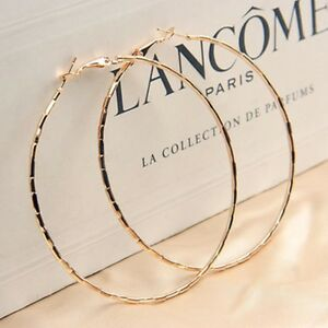 LARGE-GOLD-PLATED-DESIGN-HOOP-EARRINGS-60MM-HYPOALLERGENIC-VALENTINES-GBL35