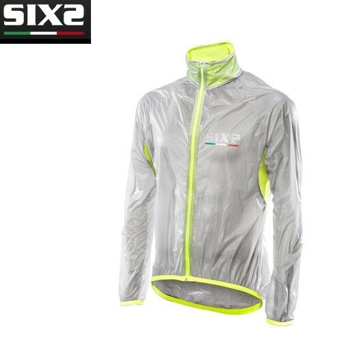 Mantellina impermeabile Bike Ciclismo Bici SIXS TRASPATENT YELLOW FLUO MANT W