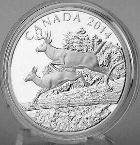 Challenge 2014 $20 Canada White-Tailed Deer Proof Coin