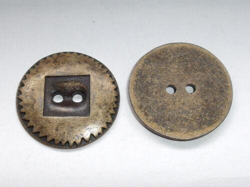 6 Stück Metallknöpfe Knopf Knöpfe  28 mm altmessing  NEUWARE rostfrei #066#