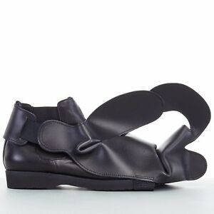 45cd7329dc40 new COMME DES GARCONS SS14 rare black structured padded leather shoe ...