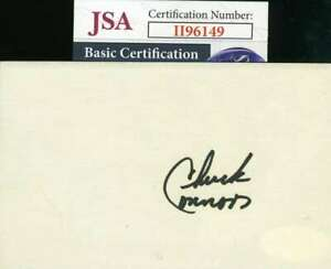 Chuck-Connors-JSA-Coa-Autograph-Hand-Signed-3x5-Index-Card-Rifleman