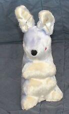 Vintage DOLLCRAFT Plush Purple & White Bunny Rabbit Stuffed Animal doll craft