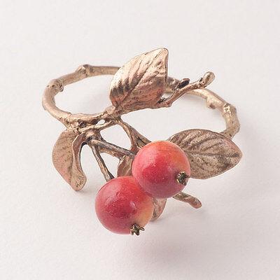 Crab Apple Napkin Rings - Michael Michaud Table Art - MadeInUSA