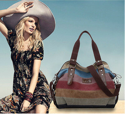 NEW fashion vintage handbag women's shoulder bag canvas crossbody hobo messenger