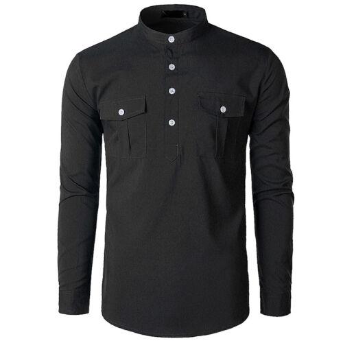 Fashion Mens Luxury Casual Stylish Slim Fit Long Sleeve Casual Dress Shirts Tops