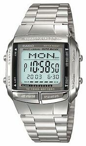 CASIO-Digital-Watch-Stainless-Silver-DB-360-1AJF-DATA-BANK-Men-039-s-JAPAN-OFFICIAL