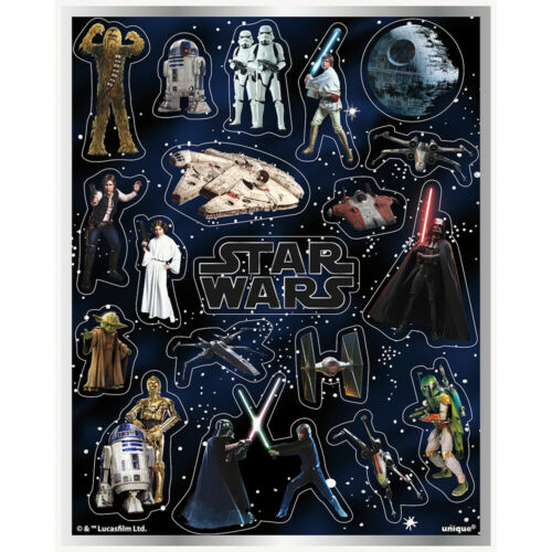 4 STAR WARS CLASSIC MOVIE Birthday Party Supplies STICKER FAVOR SHEETS