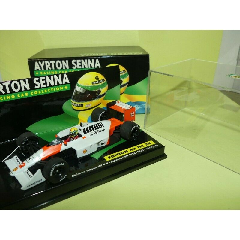 McLAREN MP4-4 GP DU JAPON 1988 A. SENNA MINICHAMPS 1 43