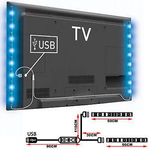 2x-40-50-60cm-Tira-de-Luces-3V-RGB-5050-LED-USB-para-TV-PC-Trasera-Multicolores
