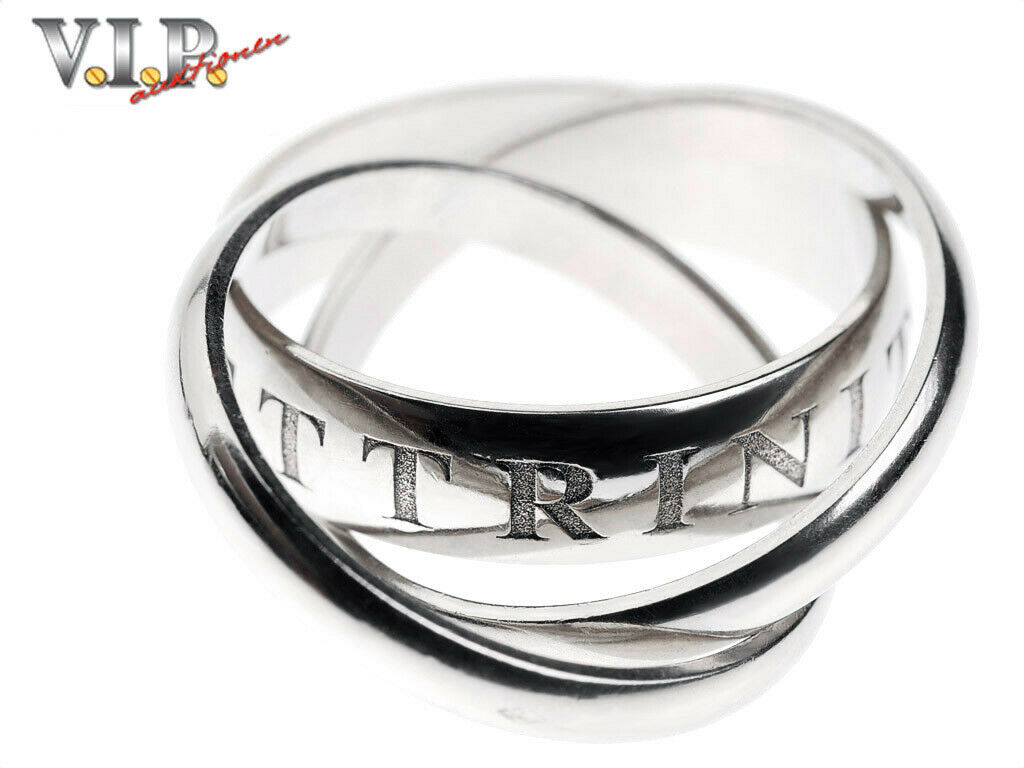 Cartier or Amour et Trinity Ring White gold LIMITED-1998 Ring 18k 750 White gold