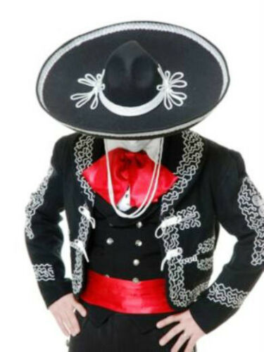 ADULT MARIACHI SOMBRERO HAT MEXICAN MEXICO COSTUME HAT JUMBO BIG LARGE BLACK