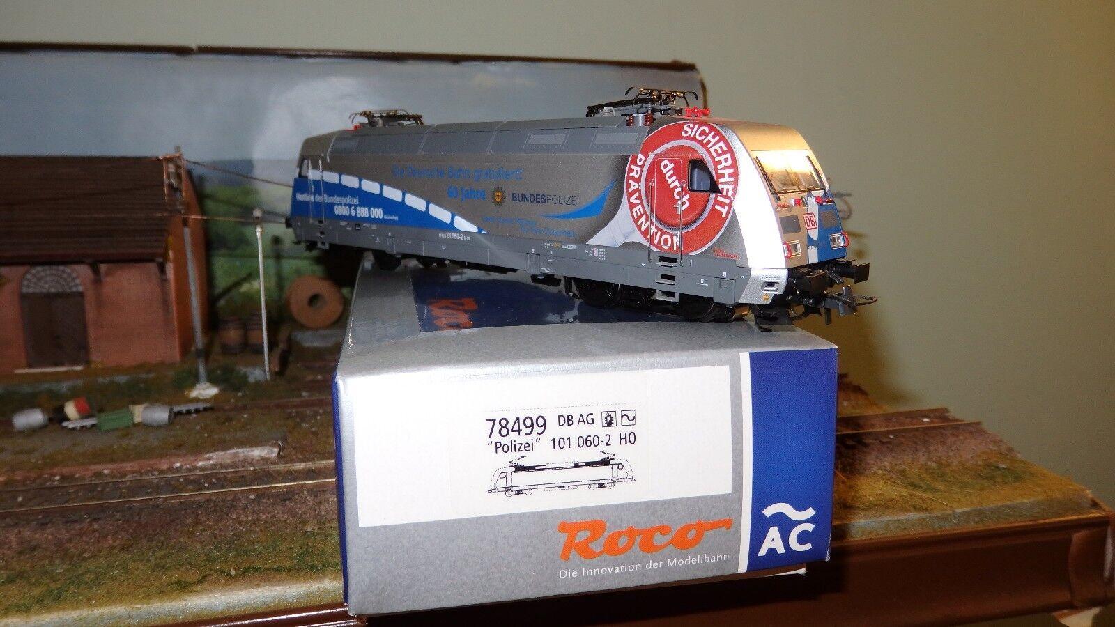 """ROCO 78499 101 060-2  DB AG pubblicitaria """"60 anni Bundespolizei"""" grigio blu,"""