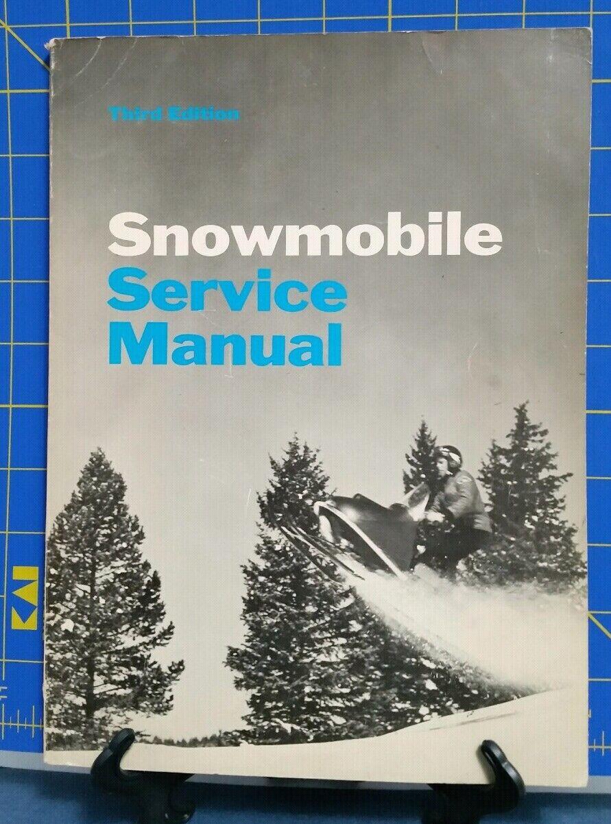 VINTAGE & RARE 1969 Snowmobile Service Manual  3rd Edition  healthy